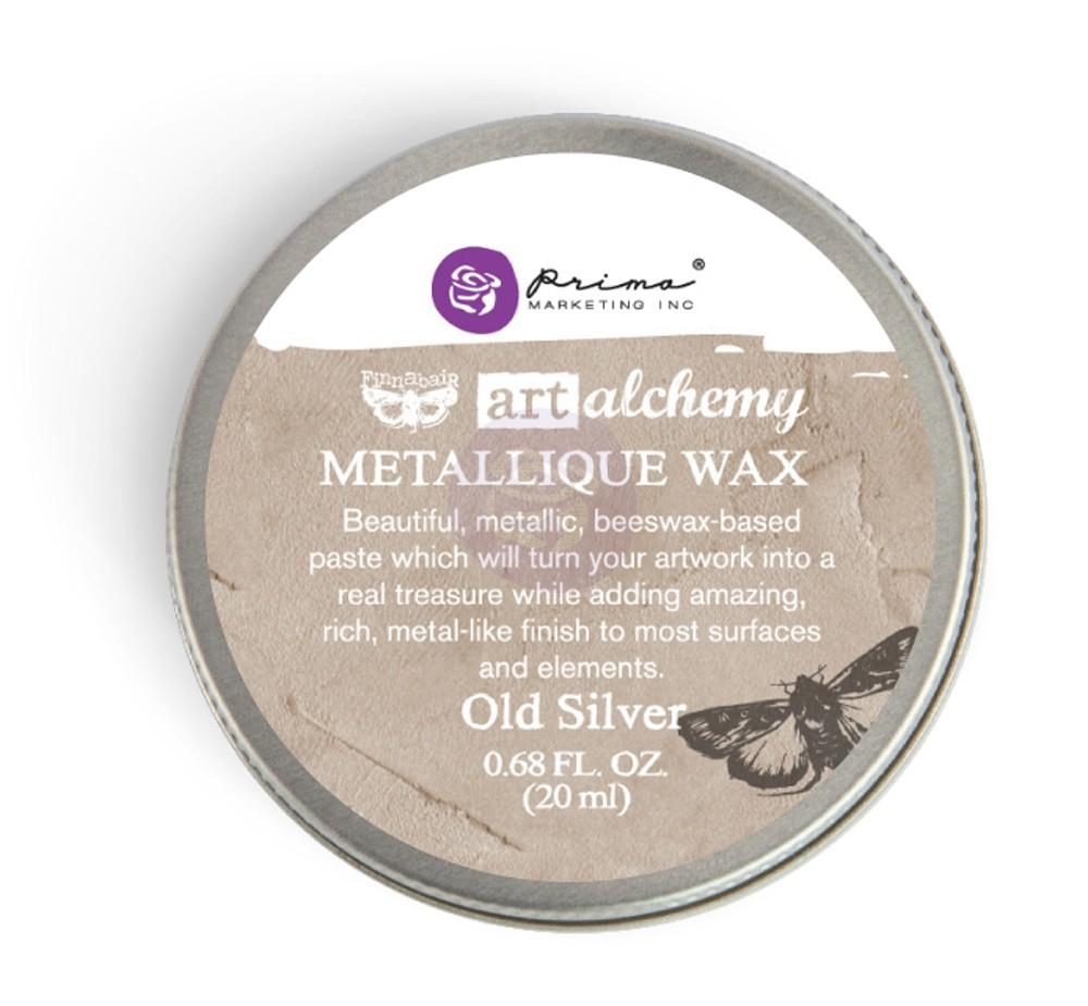 FINNABAIR Art Alchemy Metallique Wax- Old Silver