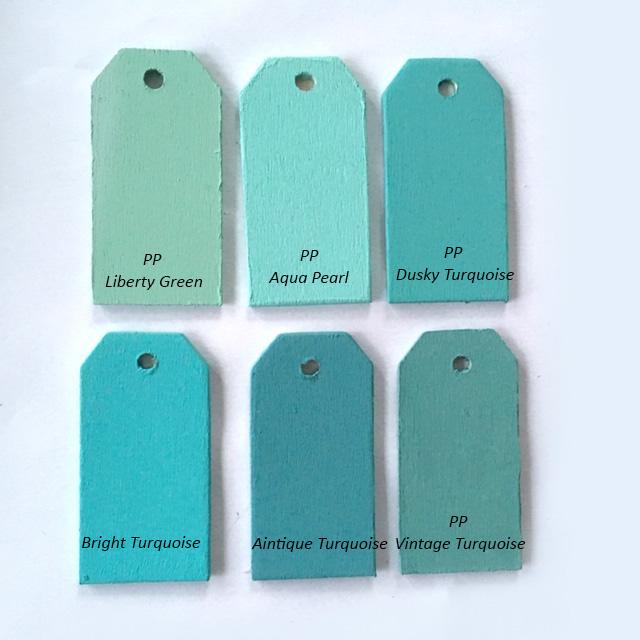 Liberty Green, Aqua Pearl, Dusky Turquoise, Brigth Turquoise, Antique Turquoise, Vintage Turquoise