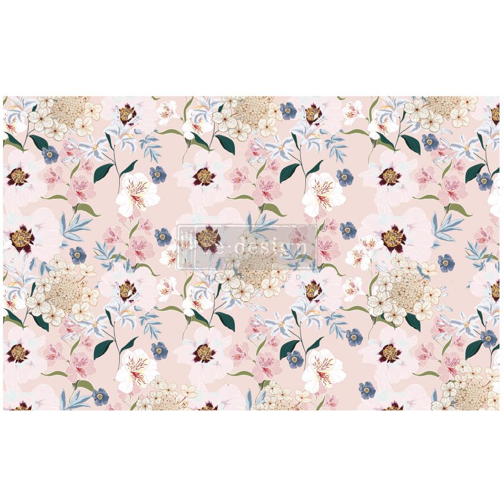 PRIMA Re Design Decoupage Tissue Paper Blush Floral-redesign-decoupage-tissue-pape