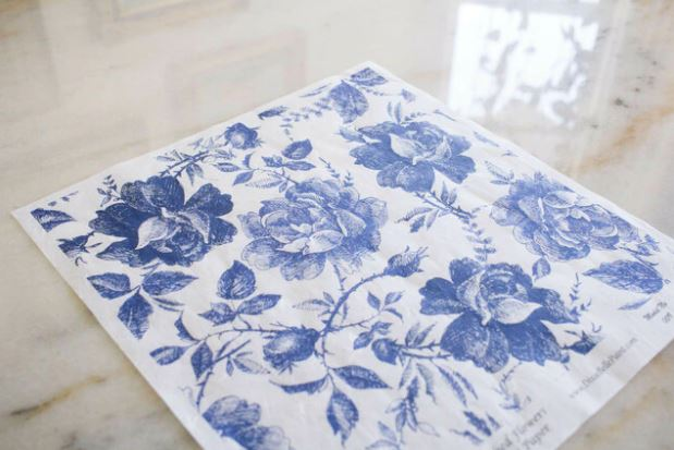 BLUE SKETCHED FLOWERS Belles & Whistles Rice Papers