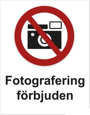 Fotografering-föbjuden