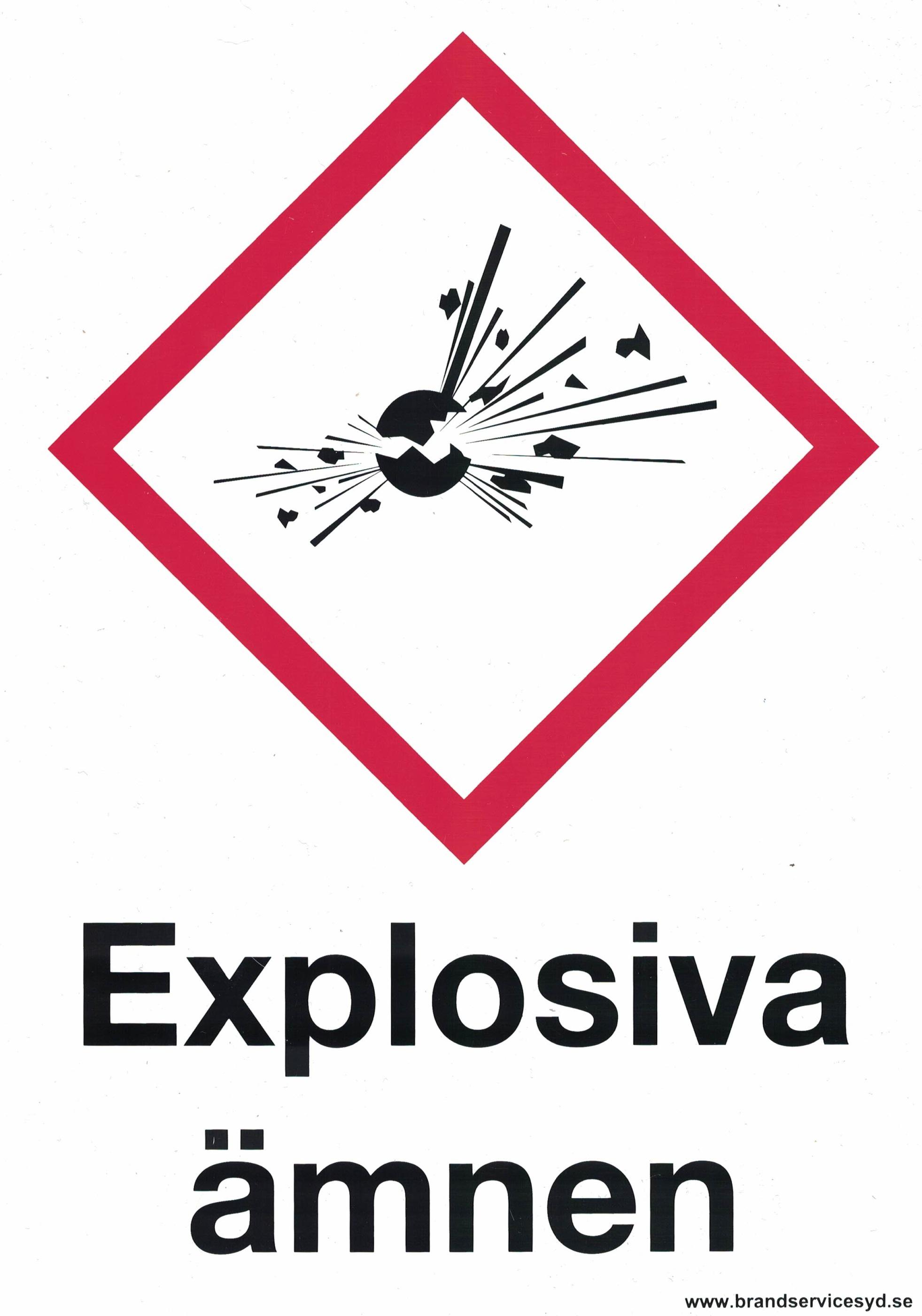 Explosiva ämnen A4 20180819
