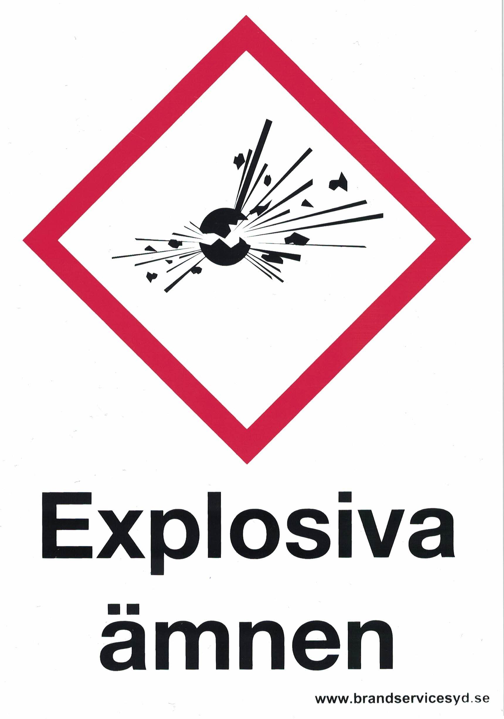 Explosiva ämnen A5 20180819