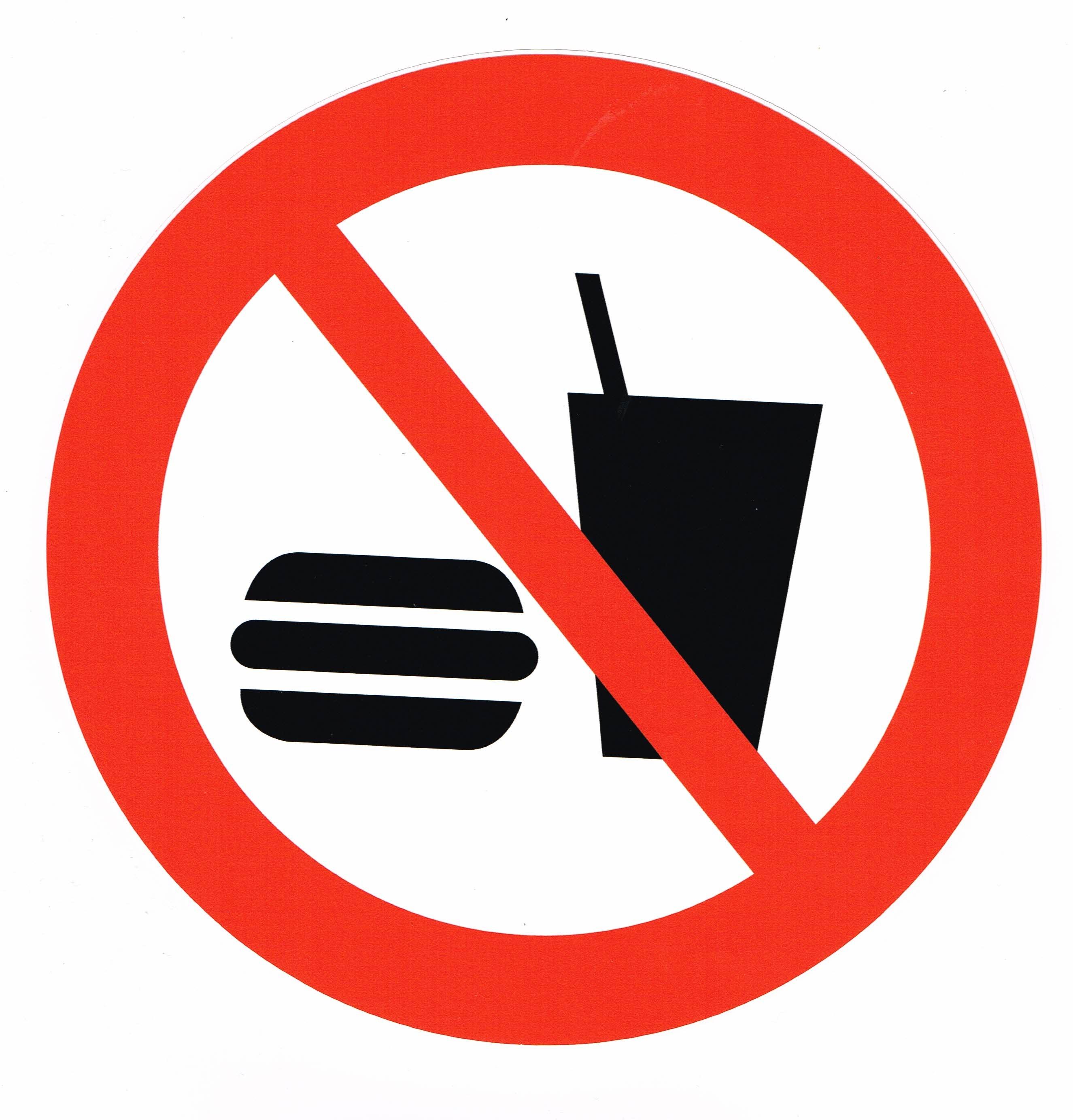 Mat och dryck förbjuden   20190202