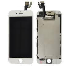 iPhone 6S LCD Display Glas - Vit - iPhone 6s Glas