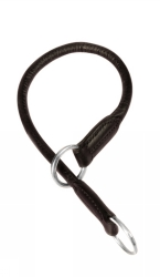 Läderstryp , S-M: 45 cm/ø 13 mm, svart  - Läderstryp , S-M: 45 cm/ø 13 mm, svart