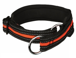 Halvstryp, S/M: 33-39 cm/25 mm, svart/orange  - Halvstryp, S/M: 33-39 cm/25 mm, svart/orange