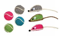 Boll och mus i sisal, 5 cm/ø 4 cm  - Boll och mus i sisal, 5 cm/ø 4 cm