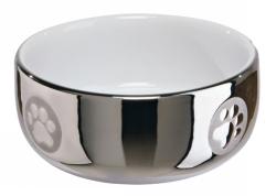 Keramikskål, 0,3L, 11 cm, silver/vit  - Keramikskål, 0,3L, 11 cm, silver/vit