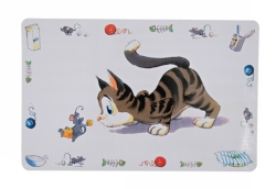 Matskålsunderlägg Glad Katt 44x28 cm  - Matskålsunderlägg Glad Katt 44x28 cm