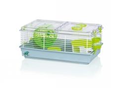 Hamsterbur BigFun Sirio grå/lime 45x27,5x21 cm  - Hamsterbur BigFun Sirio grå/lime