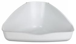 Hörntoalett Kanin/Marsvin XL 45x21x30cm  - vit