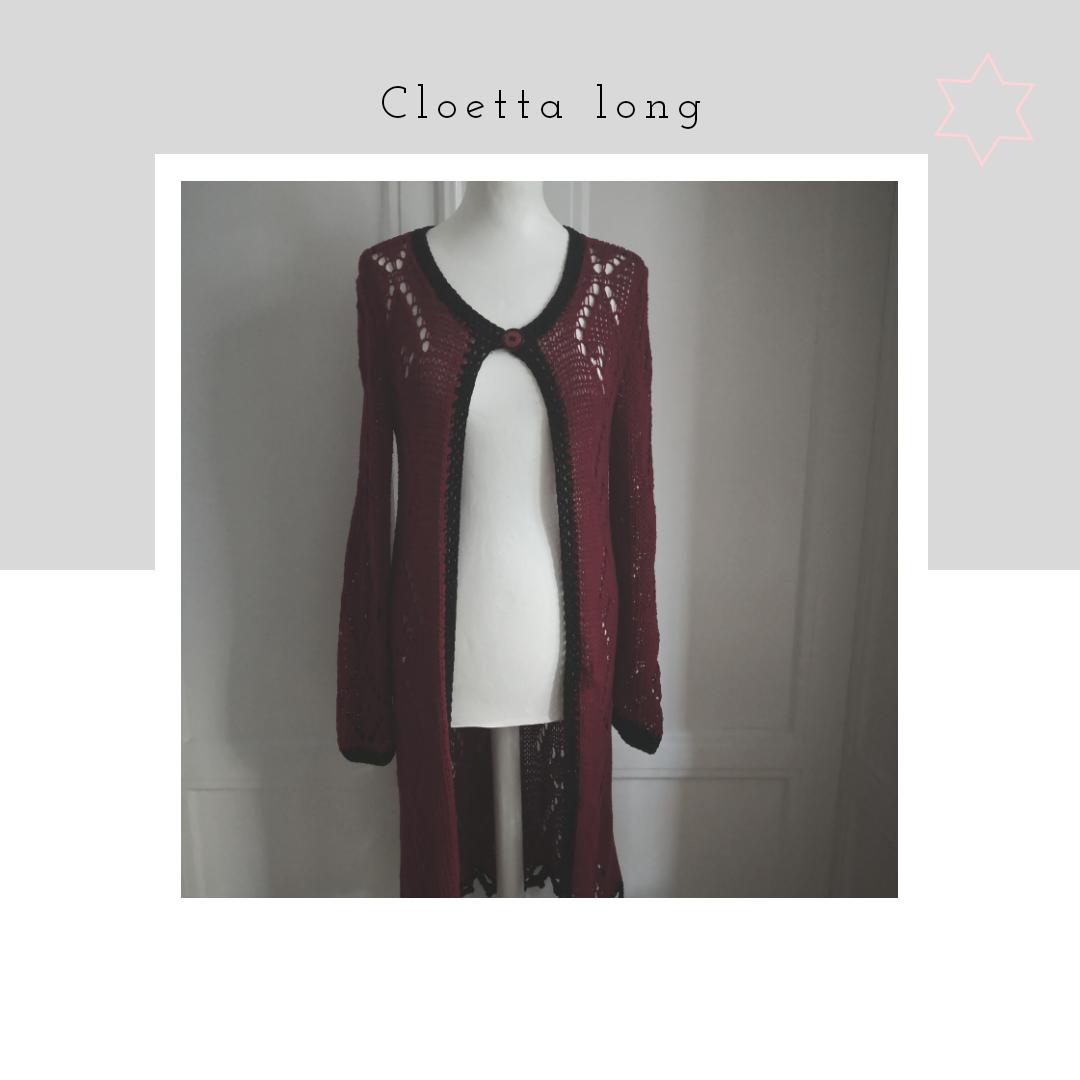 Cloetta long vinröd-svart
