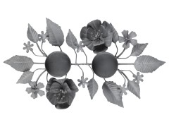 Ljusstake med blad - Ljusstake med blad
