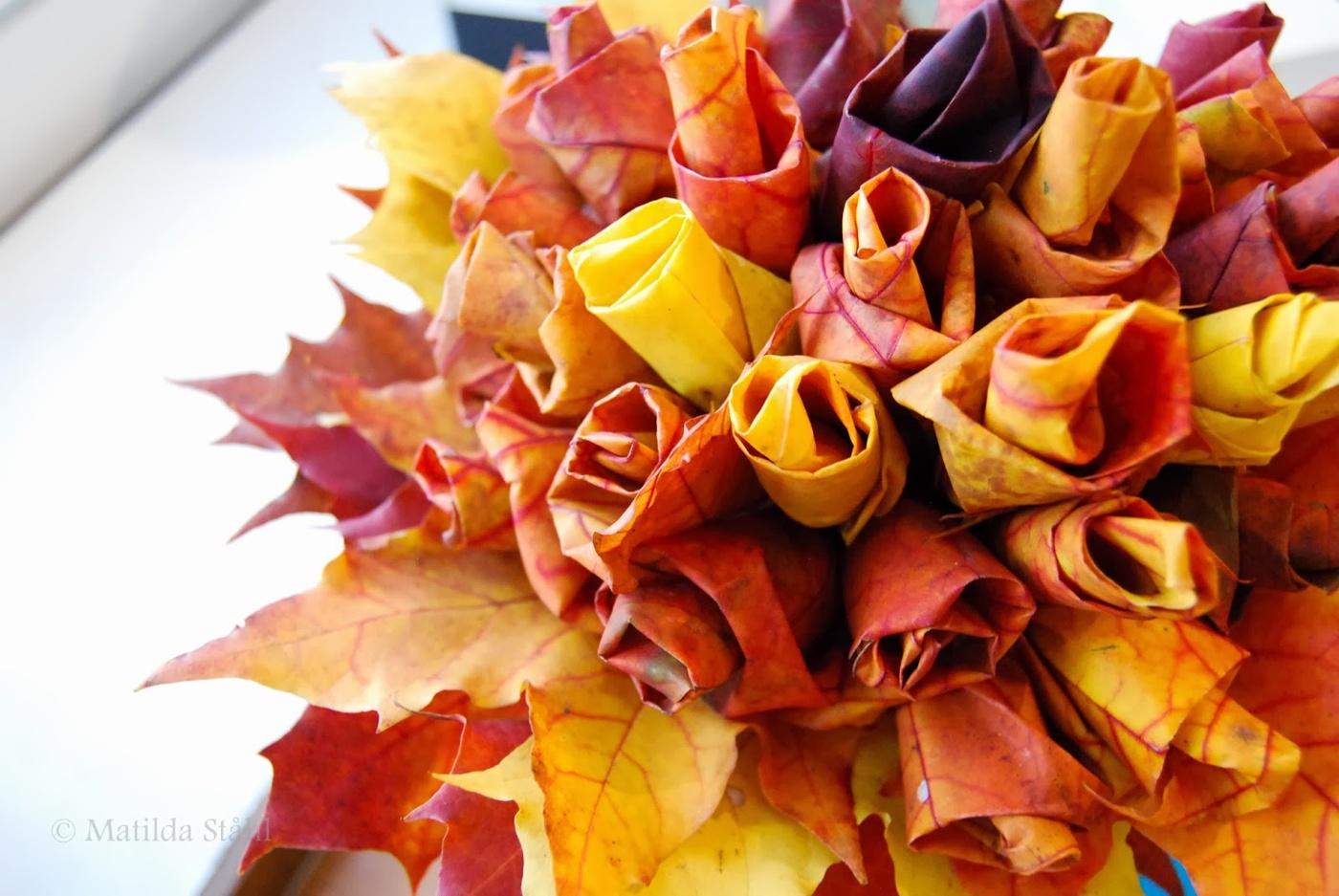 dfc7555657be Brudbukett av höstlöv | EcoBride - Inspiration för ekologiska bröllop