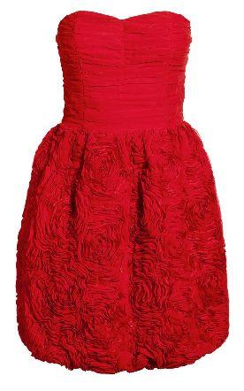 Röd korsettklänning från H&M Garden Collection