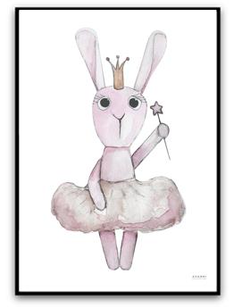 Ballerina bunny - A4,  Matt fotopapper