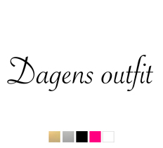 Wall stickers - Dagens outfit
