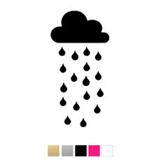 Wall stickers Stort regnmoln - Valfri färg