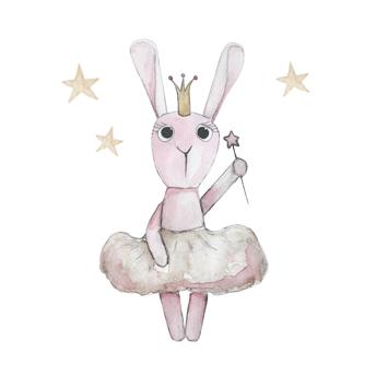 Wall stickers - Ballerina bunny - 15cm hög