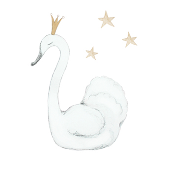 Wall stickers - Swan - 15cm