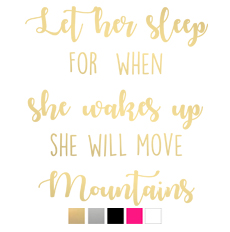 Wall stickers - Let her sleep