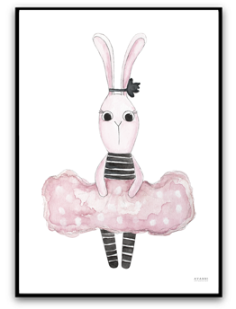 Girly bunny - A4 matt fotopapper