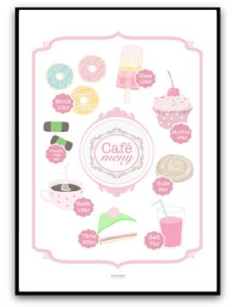 Cafe Meny - Rosa A4 matt fotopapper