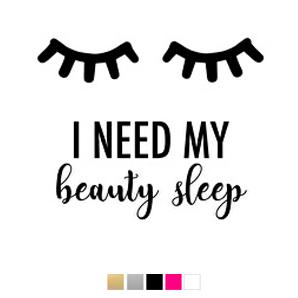 Wall stickers - I need my beauty sleep - Svart