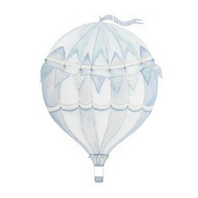 Wall stickers - Blue air balloon - 15cm