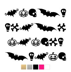 Wall stickers - Halloween olika figurer