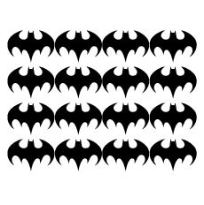 Wall stickers - Batman ikon 6cm - svart 6cm