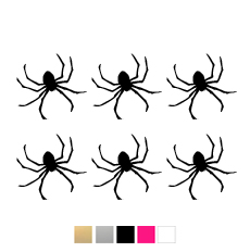 Wall stickers - Halloween spindlar - svart