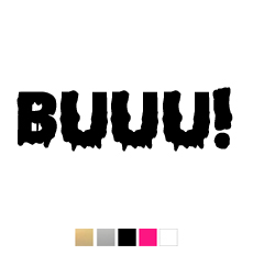 Wall stickers - Buuu! - 14cm Svart