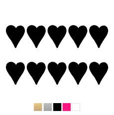 Hjärtan till julkula - svart