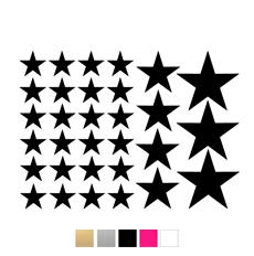 Wall stickers - Stjärnor till dockhus - svart