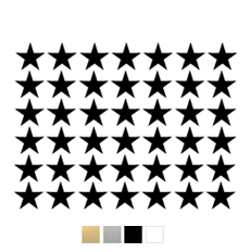 Wall stickers Små stjärnor - Valfri färg - Svart
