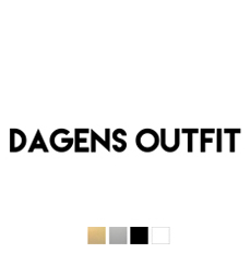 Wall stickers - Dagens outfit - Svart