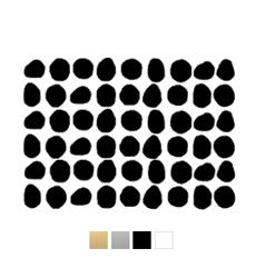 Wall stickers - Ojämna prickar - Svart