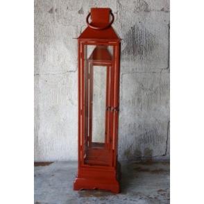 Lykta röd - lykta röd stor 78 cm bredd 20 cm