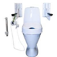 Fast monterade toalett handtag
