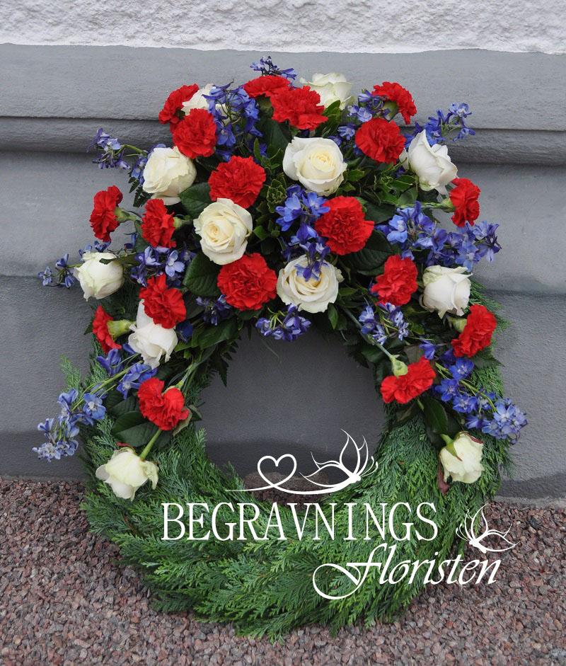 Begravningskrans-rosor-nejlikor