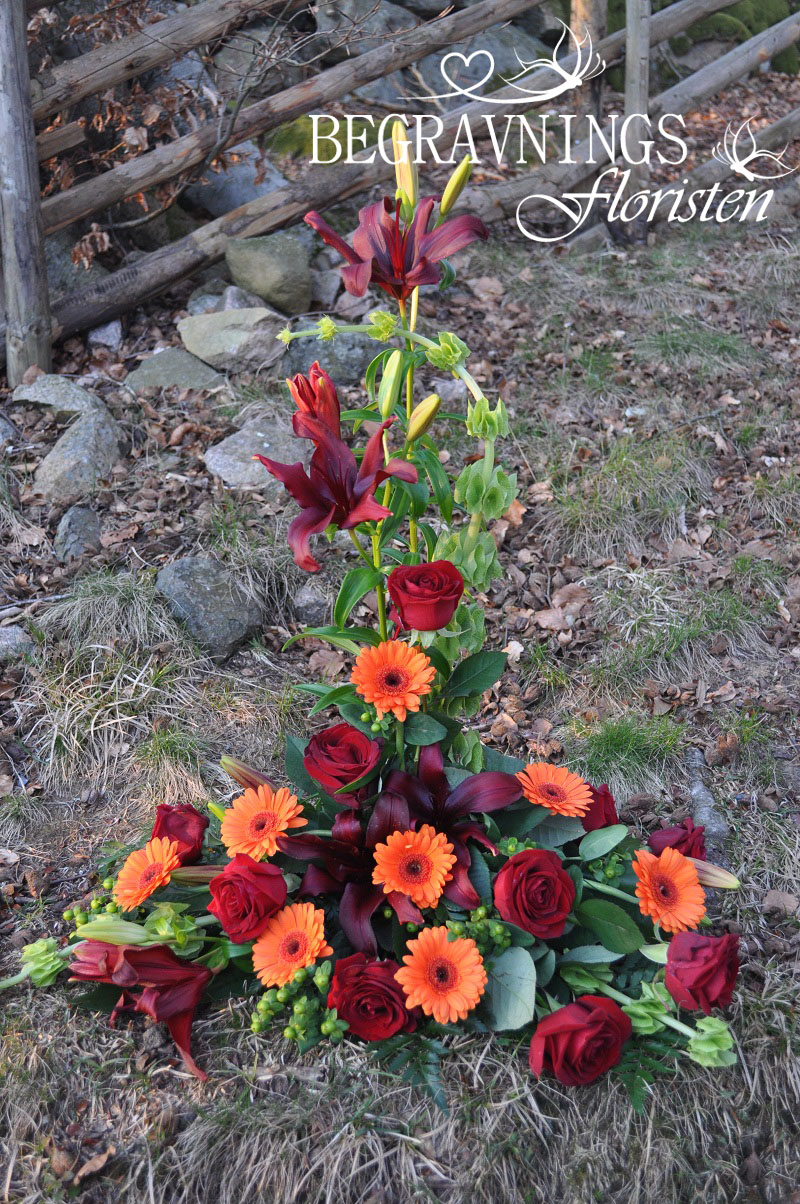 begravningsdekoration-liljor-rosor