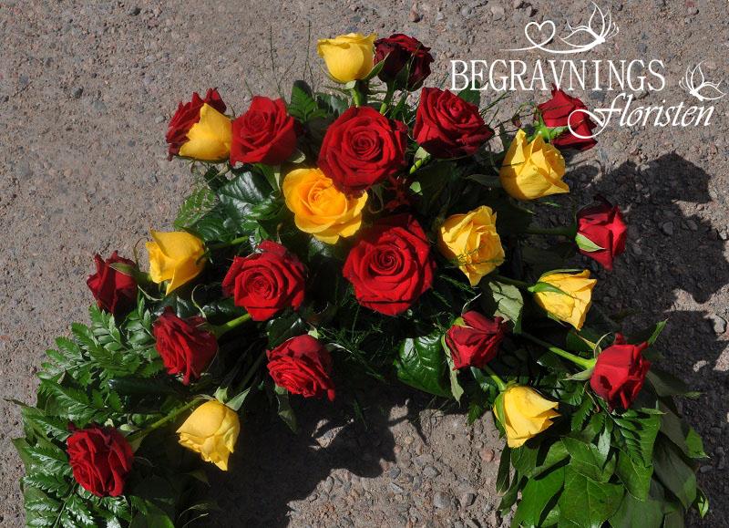 begravningsblommor-röda-gula-rosor