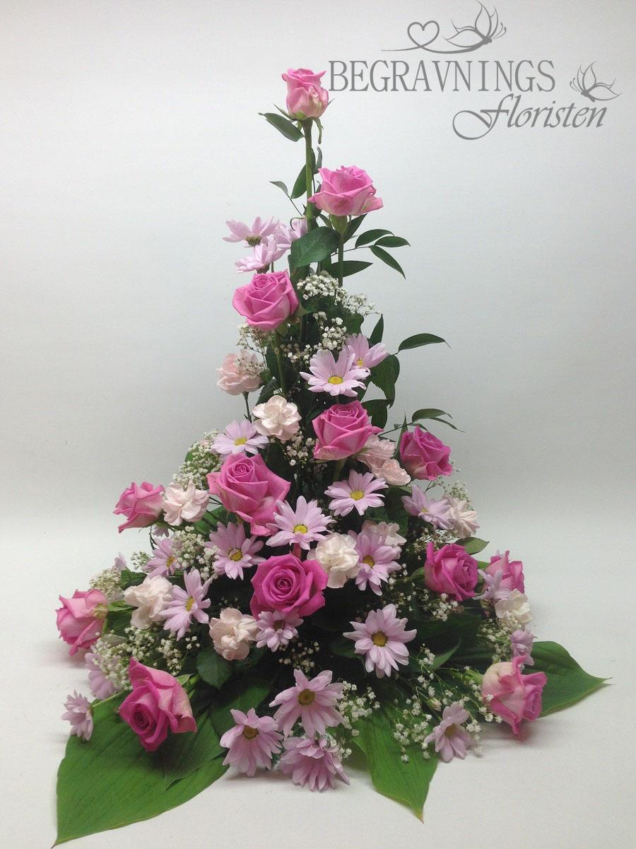 begravningsblomma-rosa-rosor
