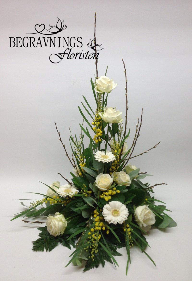 begravningsblommor-vitt-gult