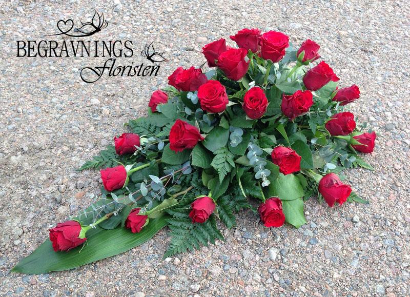 liggande arrangemang rosor