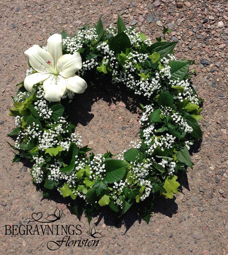 begravningskrans-brudslöja-vit-lilja