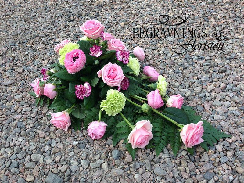 blomma-begravning-rosa-rosor