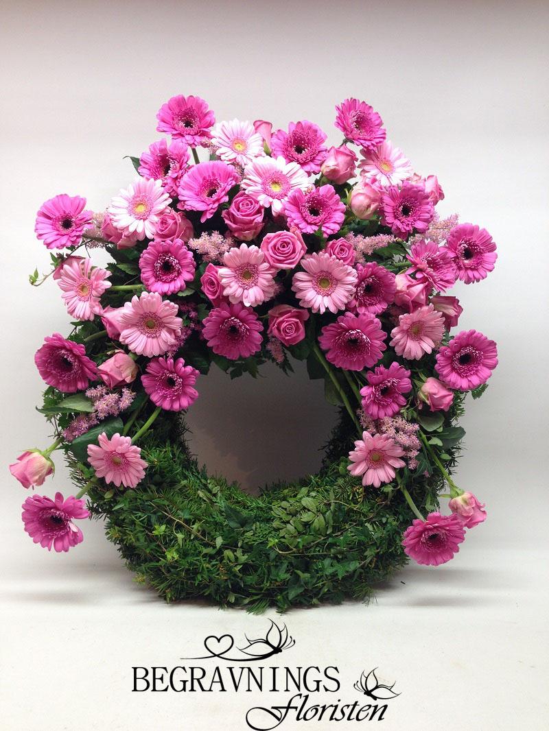 begravningskrans-rosor-rosa